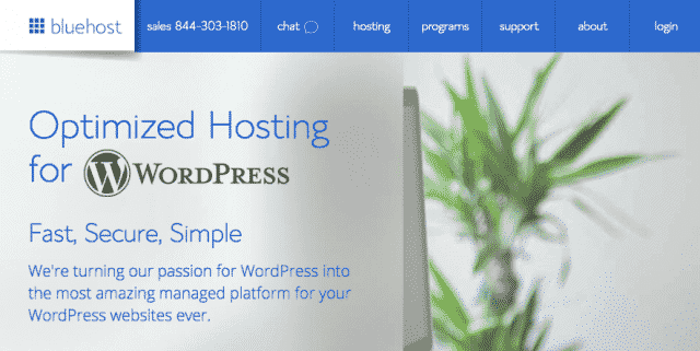 Bluehost Optimized Hosting