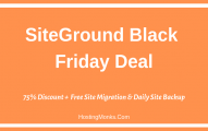 SiteGround Black Friday 2019 Deal: A Massive 75% Discount on Web Hosting