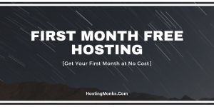 first month free hosting