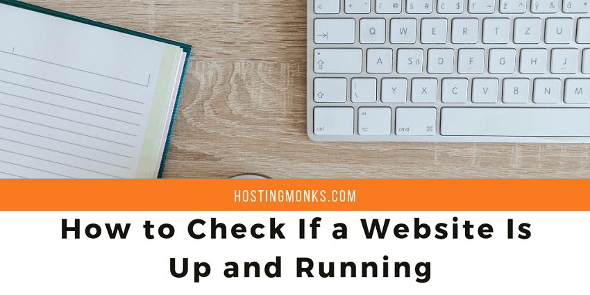 how to check If a website Is up and running