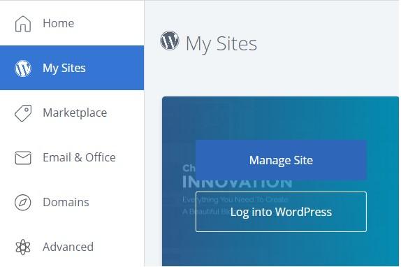 manage sites