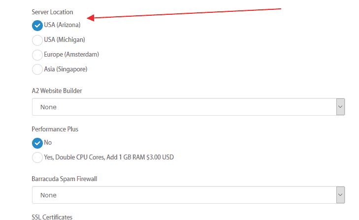 choose server location