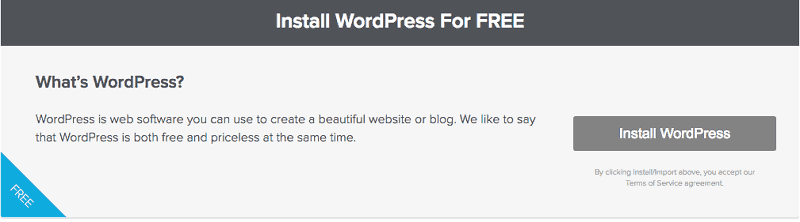 Install WordPress for Free