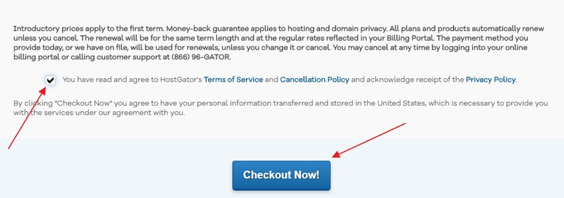 accept hostgator TOS