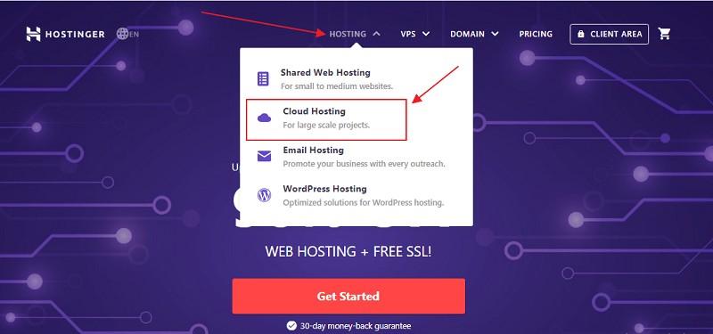 hostinger cloud hosting