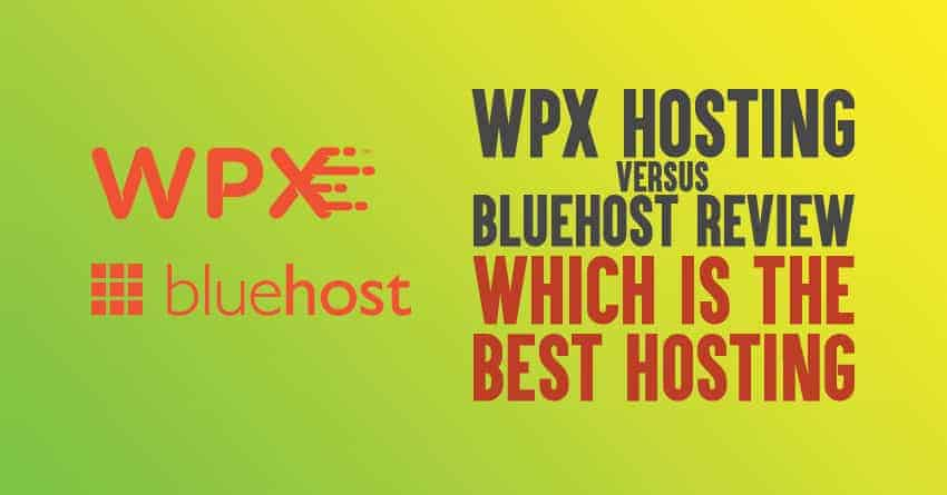 wpx hosting vs bluehost comparison