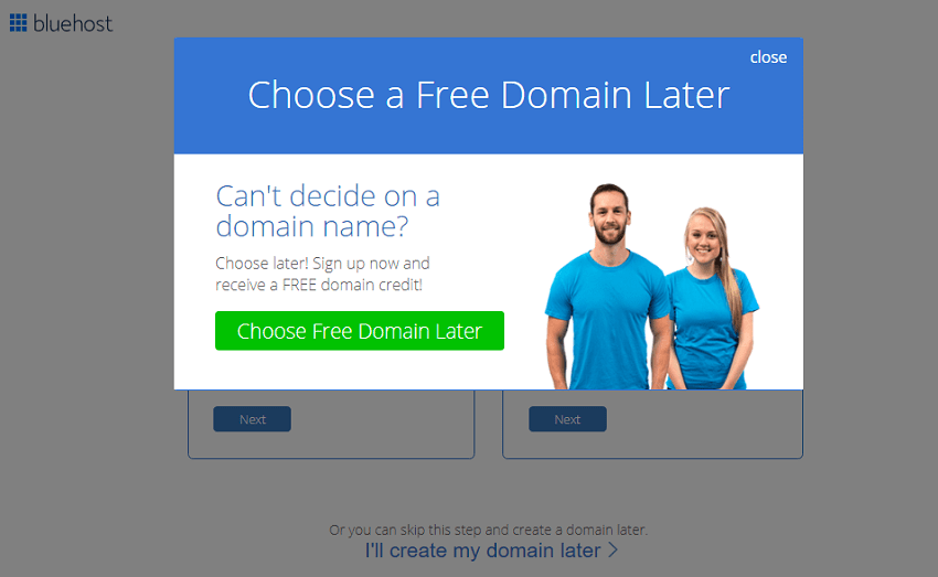 register your domain later