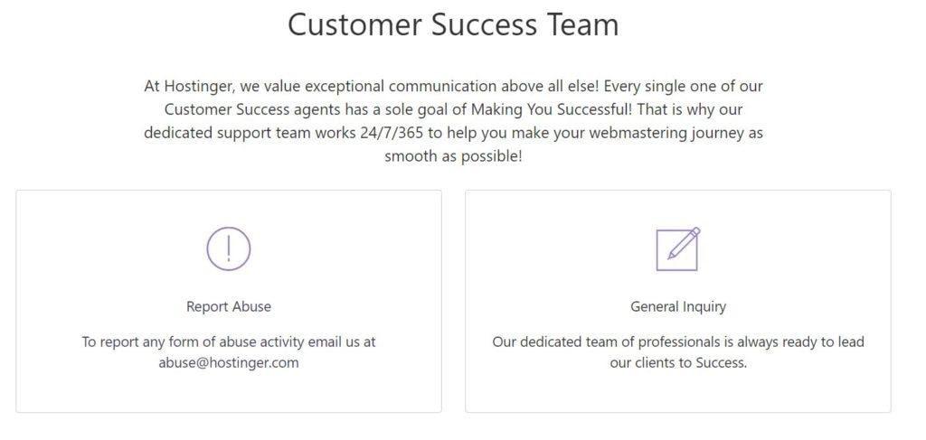 Hostinger Customer Support Team