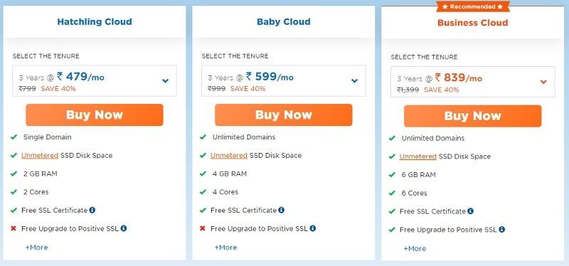 hostgator cloud hosting plans