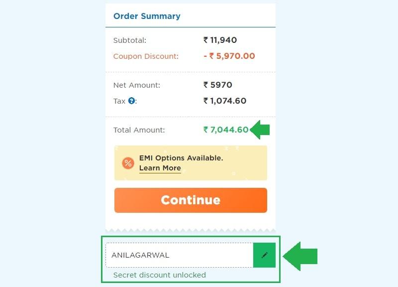 hostgator price after applying discount