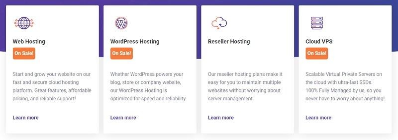 choose a web hosting on chemicloud
