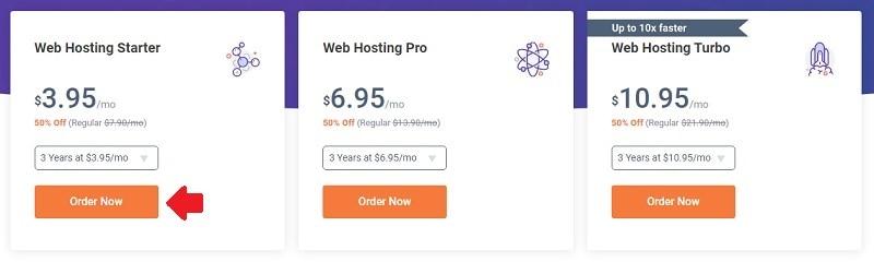 select a chemicloud web hosting plan