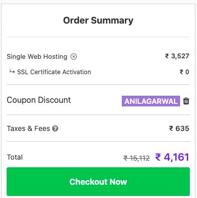 hostinger coupon applied